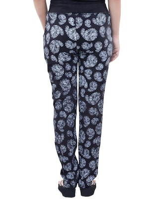 black cotton track pants - 12092709 - Standard Image - 3