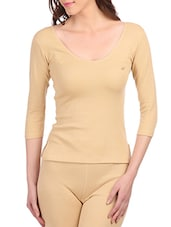 beige cotton thermal top -  online shopping for Thermals & Inner Wear