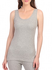 grey cotton thermal vest -  online shopping for Thermals & Inner Wear