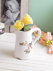 Beautiful Butterfly Print Kettle Style 13.5 CM Planter Pot -  online shopping for Pots & Planters