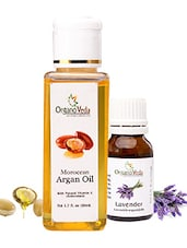 Organoveda Argan And Lavender Oil Combo - By