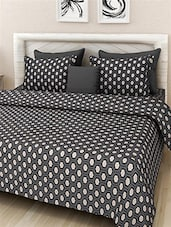 black cotton double bed bed cover -  online shopping for bed covers