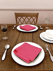 Set Of 6 Cotton Table Napkin In Solid Coler - By