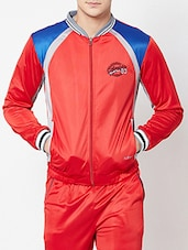 red polyester casual jacket -  online shopping for Casual Jacket