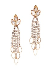 Gold Metal Drop Earrings - By