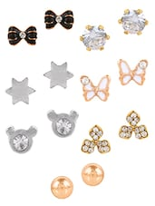 Gold Metal Studs Set Of 7 - By