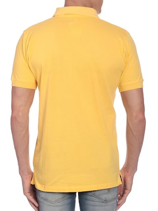 yellow chest print t-shirt - 12249214 - Standard Image - 3
