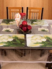 Azalea PVC Table Placemats , Green , 6 Seater - By
