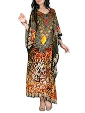 multicolored printed georgette kaftan -  online shopping for Kaftans