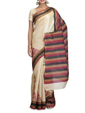 Beige Printed Art Bhagalpuri Ghicha Silk Saree - By - 1227209