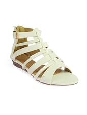 nude faux leather sandal -  online shopping for sandals