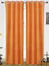 Dekor World Set Of 2 Window Eyelet Curtains - By