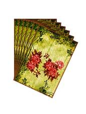 Leaf Designs Red & Green Vintage Table Mats - Set Of 6 - By