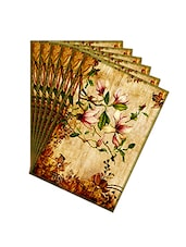 Leaf Designs Sepia Vintage Table Mats - Set Of 6 - By