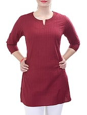 maroon cotton kurti -  online shopping for kurtis
