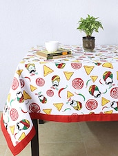 House This Chatpata Thela 100% Cotton Table Cover - Red - By