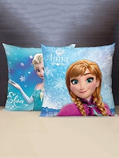 SPACES Disney Frozen Reversible Polyester Voilet Cushion Cover Set Of 1 - By