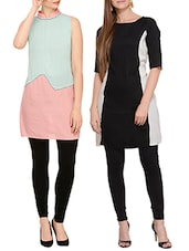 multicolored viscose Kurta Combo (Set of 2) -  online shopping for kurtas