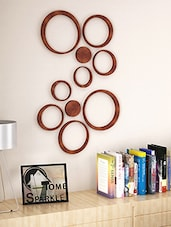 Brown Engineered Wooden Set Of 10 Wooden Circles Stickers - By