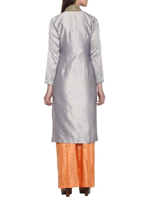 Multicoloured party wear suit set - 12460350 - Standard Image - 3