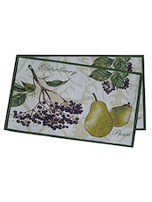 Avira Home Fruits Table Mat-Machine Washable Placemats- Set Of 2-Multicolor - By