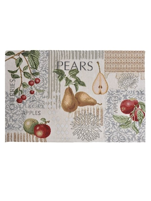 "Avira Home Fruity Magic Table Mat- Set of 4-Jaquard Woven-Machine Washable- (13""x19"") - 12468284 - Standard Image - 3"