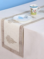 Rajrang Hand Block Printed Brown Color Cotton Table Runner - By