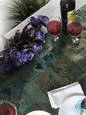 Rajrang Peacock Pattern Green Color Cotton Blend Table Runner -  online shopping for Table Runners