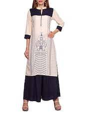 white rayon kurta palazzo  set -  online shopping for Sets