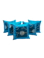Designer Booti Turquoise 5 Pc. Cushion Covers Set 512 -  online shopping for Cushion Covers