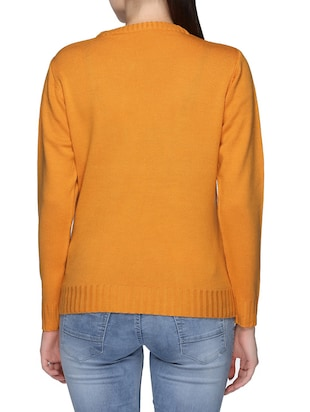 orange sequence acrylic pullover - 12512827 - Standard Image - 3