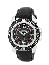 black Leather Strap analog watch -  online shopping for Men Analog Watches
