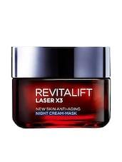 L 'Oreal Paris Revitalift Laser X3, New Skin Anti-Aging Night Cream - Mask - By