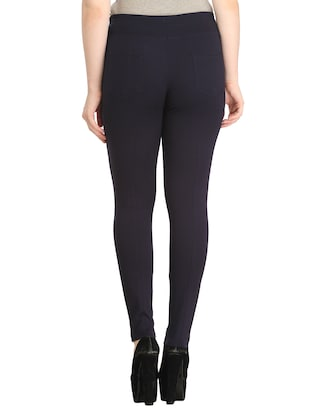 black polyester jeggings - 12523758 - Standard Image - 3