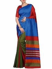 multi colored silk printed  saree -  online shopping for Sarees