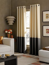 American-Elm Set Of 2 Both Sided Beige-Grey Color Room Darkening Blackout Twins Curtains(4.5 X 5) - By