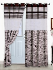 Story@Home Brown 1 Pc Door Curtain-7 Feet - By