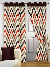 Story@Home Brown 2 Pc Door Curtain-7 Feet - By