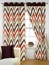 Story@Home Brown 2 Pc Window Curtain-5 Feet - By