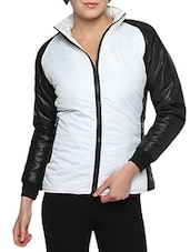 White Nylon Solid Long Sleeves Jacket - By