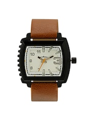 Tan Analogue Wrist Watch For Men -  online shopping for Analog Watches