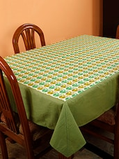 Dekor World Owl Printed Green Table Cover (Pack Of 1) - By