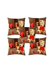 Shubh Collection Of Love Print Of Cushion Cover (Set Of 5) - By