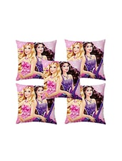 Shubh Collection Of Barbie Print Of Cushion Cover (Set Of 5) - By