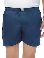 dark blue cotton boxer -  online shopping for Boxers