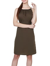green belted dress -  online shopping for Dresses
