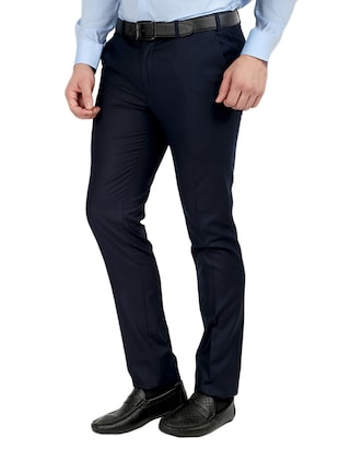 black and blue set of 2 flat front trousers formal trouser - 12823769 - Standard Image - 6