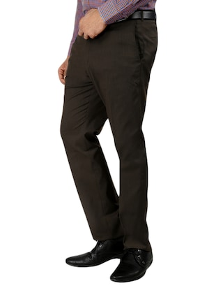 set of 2 polyester flat front trousers formal trouser - 12823772 - Standard Image - 6