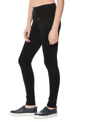 black polyester jeggings - 12833732 - Standard Image - 3
