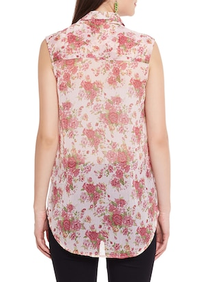 floral high-low shirt - 12846352 - Standard Image - 3
